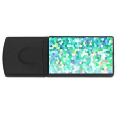 Mosaic Sparkley 1 Usb Flash Drive Rectangular (4 Gb)  by MedusArt