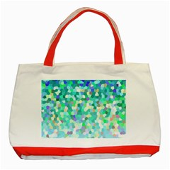 Mosaic Sparkley 1 Classic Tote Bag (red)