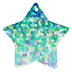 Mosaic Sparkley 1 Star Ornament (two Sides)  by MedusArt