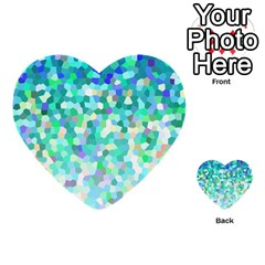Mosaic Sparkley 1 Multi Purpose Cards (heart)  by MedusArt