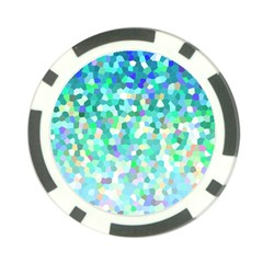 Mosaic Sparkley 1 Poker Chip Card Guards (10 Pack)  by MedusArt