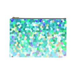 Mosaic Sparkley 1 Cosmetic Bag (large)  by MedusArt