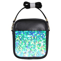 Mosaic Sparkley 1 Girls Sling Bags by MedusArt