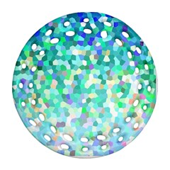 Mosaic Sparkley 1 Round Filigree Ornament (2side) by MedusArt