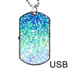 Mosaic Sparkley 1 Dog Tag Usb Flash (one Side) by MedusArt