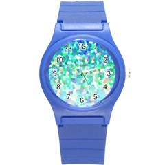 Mosaic Sparkley 1 Round Plastic Sport Watch (s) by MedusArt