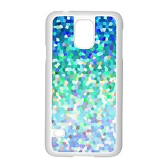Mosaic Sparkley 1 Samsung Galaxy S5 Case (white) by MedusArt