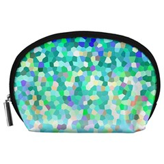 Mosaic Sparkley 1 Accessory Pouches (large)  by MedusArt