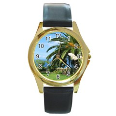 Sunny Tenerife Round Gold Metal Watches