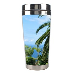 Sunny Tenerife Stainless Steel Travel Tumblers by MoreColorsinLife
