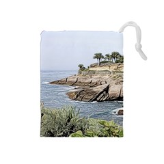 Tenerife,painted Version Drawstring Pouches (medium)