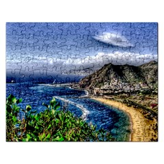 Tenerife 12 Effect Rectangular Jigsaw Puzzl by MoreColorsinLife