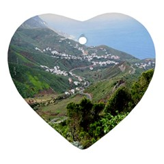 Tenerife 10 Ornament (heart)  by MoreColorsinLife