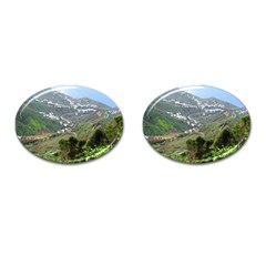 Tenerife 10 Cufflinks (oval) by MoreColorsinLife