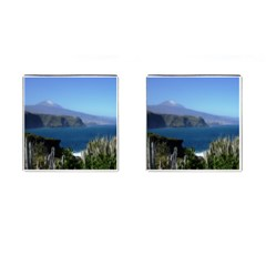 Panted Landscape Tenerife Cufflinks (square) by MoreColorsinLife