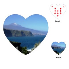 Panted Landscape Tenerife Playing Cards (heart)  by MoreColorsinLife
