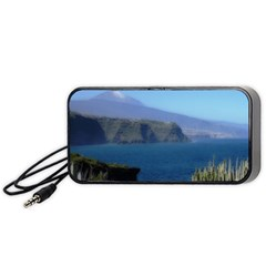 Panted Landscape Tenerife Portable Speaker (black)  by MoreColorsinLife