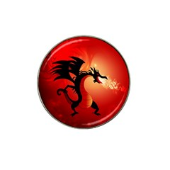 Funny, Cute Dragon With Fire Hat Clip Ball Marker (4 Pack) by FantasyWorld7