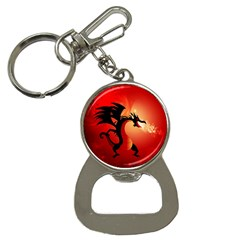 Funny, Cute Dragon With Fire Bottle Opener Key Chains by FantasyWorld7