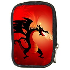 Funny, Cute Dragon With Fire Compact Camera Cases by FantasyWorld7