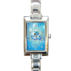 Wonderful Christmas Ball With Reindeer And Snowflakes Rectangle Italian Charm Watches by FantasyWorld7