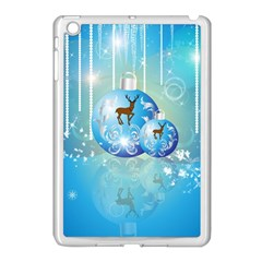 Wonderful Christmas Ball With Reindeer And Snowflakes Apple Ipad Mini Case (white) by FantasyWorld7