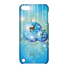 Wonderful Christmas Ball With Reindeer And Snowflakes Apple Ipod Touch 5 Hardshell Case With Stand by FantasyWorld7