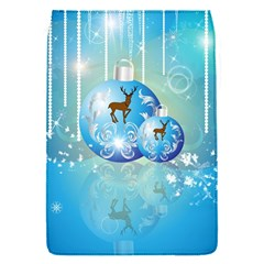 Wonderful Christmas Ball With Reindeer And Snowflakes Flap Covers (s)  by FantasyWorld7