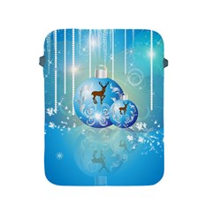 Wonderful Christmas Ball With Reindeer And Snowflakes Apple Ipad 2/3/4 Protective Soft Cases by FantasyWorld7