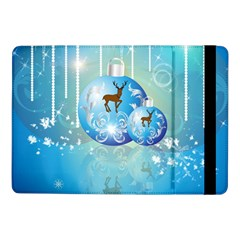 Wonderful Christmas Ball With Reindeer And Snowflakes Samsung Galaxy Tab Pro 10 1  Flip Case by FantasyWorld7
