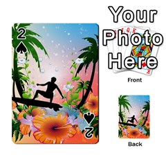 Tropical Design With Surfboarder Playing Cards 54 Designs  by FantasyWorld7