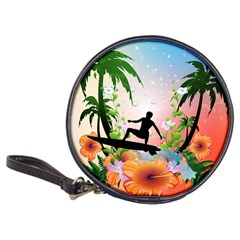 Tropical Design With Surfboarder Classic 20-cd Wallets by FantasyWorld7