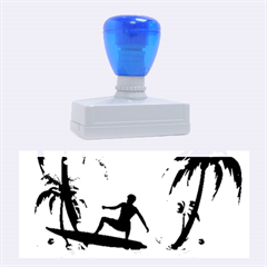 Tropical Design With Surfboarder Rubber Stamps (large) by FantasyWorld7