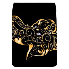 Beautiful Elephant Made Of Golden Floral Elements Flap Covers (l)  by FantasyWorld7