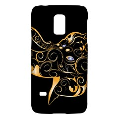 Beautiful Elephant Made Of Golden Floral Elements Galaxy S5 Mini by FantasyWorld7