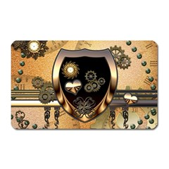 Steampunk, Shield With Hearts Magnet (rectangular) by FantasyWorld7