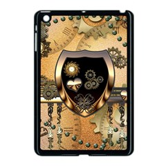 Steampunk, Shield With Hearts Apple Ipad Mini Case (black) by FantasyWorld7