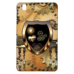 Steampunk, Shield With Hearts Samsung Galaxy Tab Pro 8 4 Hardshell Case by FantasyWorld7