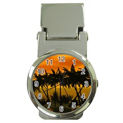Sunset Over The Beach Money Clip Watches
