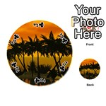 Sunset Over The Beach Playing Cards 54 (Round)  Front - ClubJ