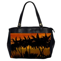 Sunset Over The Beach Office Handbags by FantasyWorld7
