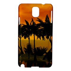 Sunset Over The Beach Samsung Galaxy Note 3 N9005 Hardshell Case by FantasyWorld7