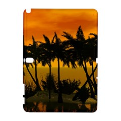 Sunset Over The Beach Samsung Galaxy Note 10 1 (p600) Hardshell Case by FantasyWorld7