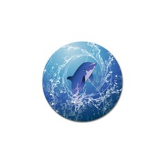 Cute Dolphin Jumping By A Circle Amde Of Water Golf Ball Marker (10 Pack) by FantasyWorld7
