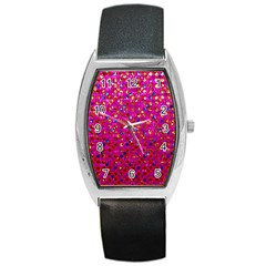 Polka Dot Sparkley Jewels 1 Barrel Metal Watches by MedusArt