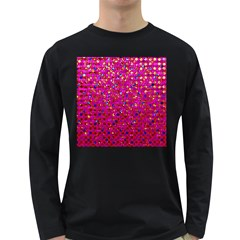 Polka Dot Sparkley Jewels 1 Long Sleeve Dark T Shirts by MedusArt