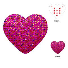 Polka Dot Sparkley Jewels 1 Playing Cards (heart)  by MedusArt