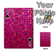 Polka Dot Sparkley Jewels 1 Playing Cards 54 Designs  by MedusArt