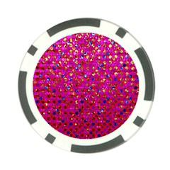 Polka Dot Sparkley Jewels 1 Poker Chip Card Guards by MedusArt