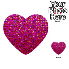 Polka Dot Sparkley Jewels 1 Multi Purpose Cards (heart)  by MedusArt